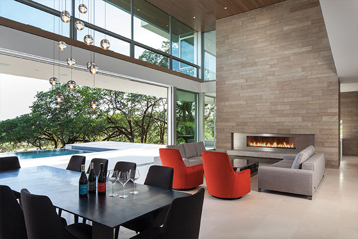 Retrospect Vineyards Stunning Living Room With Fireplace And Outdoor View