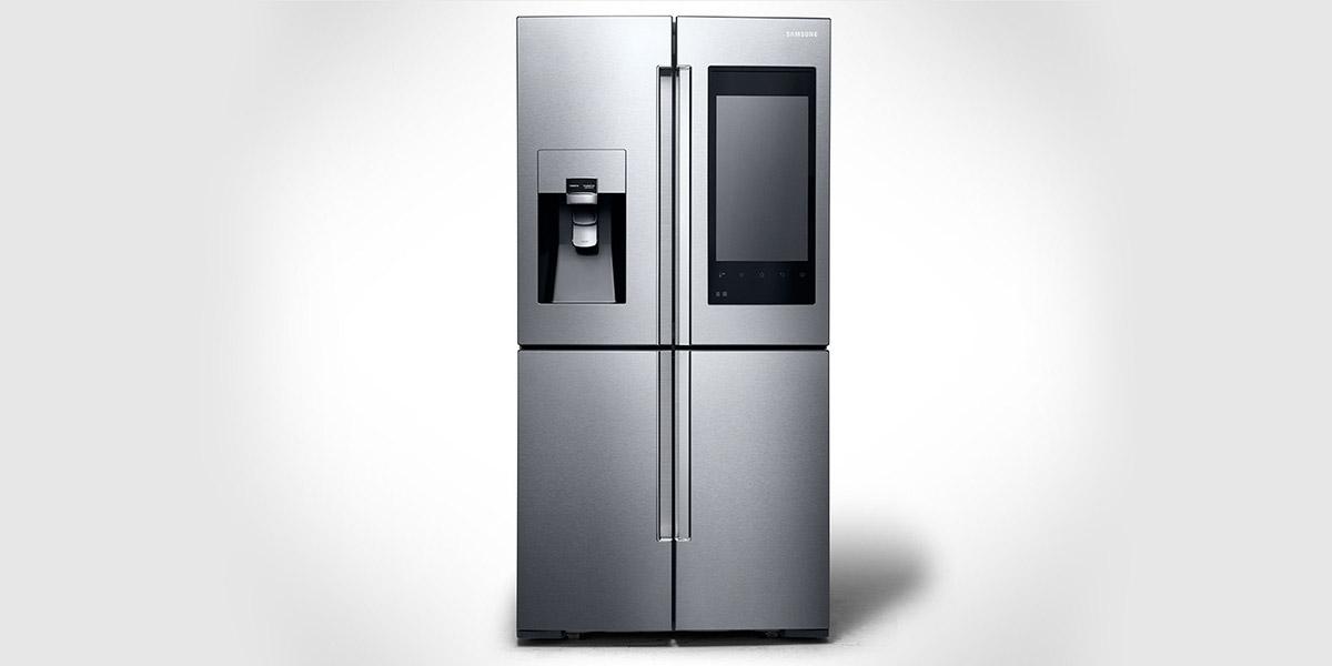 Samsung's New Family Hub Refrigerator - Smart Fridge CES 2016