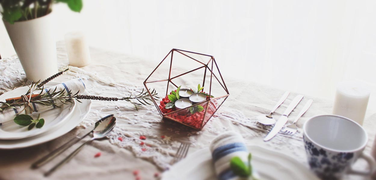 Small geometric glass terrarium home decor