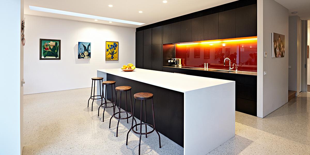 Stunning White And Black Kitchen Design