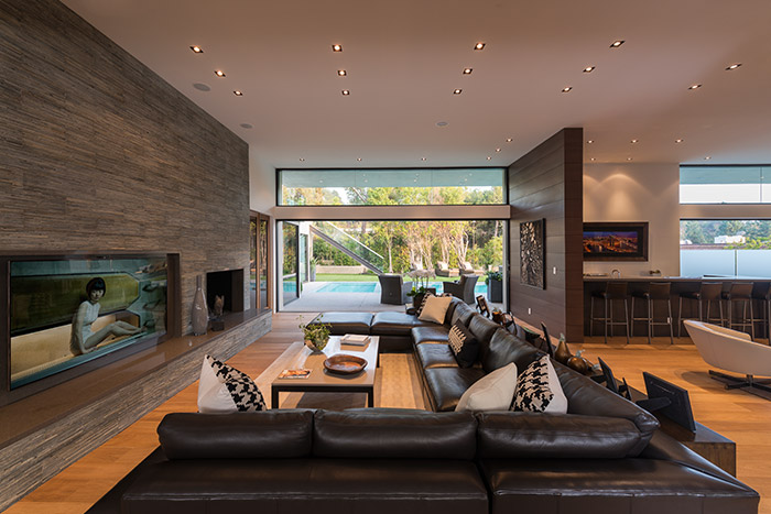 Stylish home with open space interior