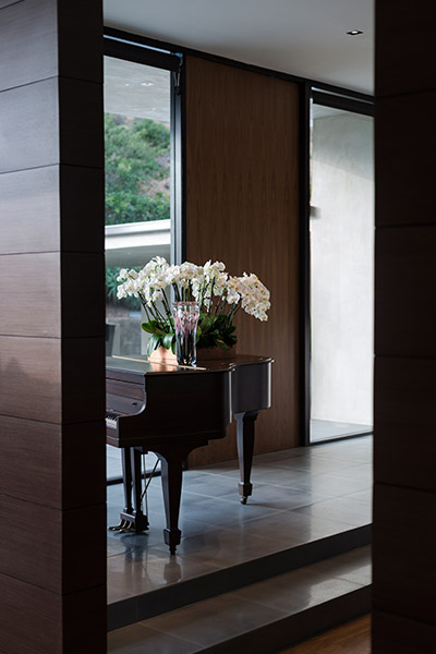 Stylish home with piano at the entryway