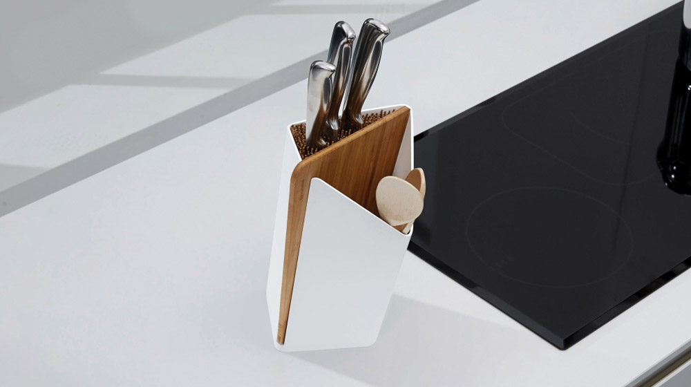 Stylish kitchen utensil holder by black and blum