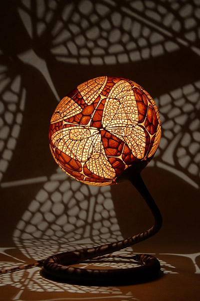 Calabarte s unique gourd lamps create a mesmerizing
