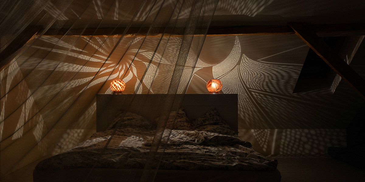 Unique Gourd Lamp By Calabarte Creates Magical Atmosphere In Bedroom