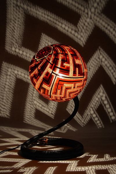 calabarte 39 s unique gourd lamps create a mesmerizing