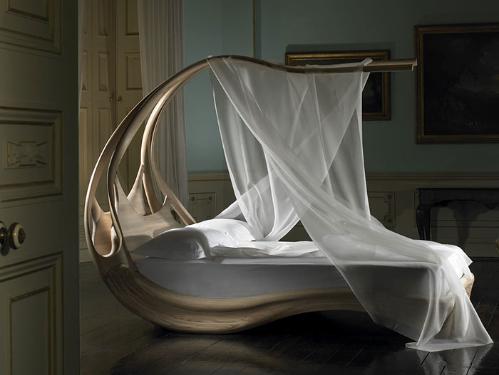 Unique bed by Joseph Walsh Studio