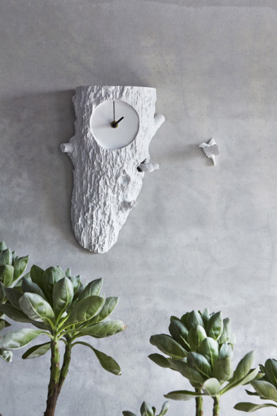 Unusual wall clock home decor idea