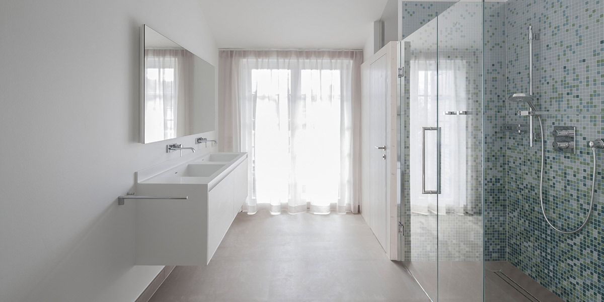 White Bathroom Design In Austria