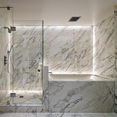 White Bathroom In A Stunning Manhattan Duplex