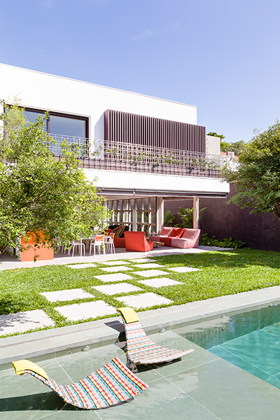 Beautiful outdoor swimming pool and garden area - AA House by Pascali Semerdjian Architects