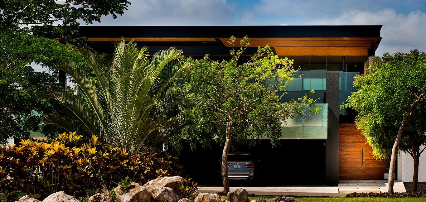 Spectacular contemporary exterior and garage of amazing house in Yucatan, Mexico by Seijo Peon Arquitectos y Asociados