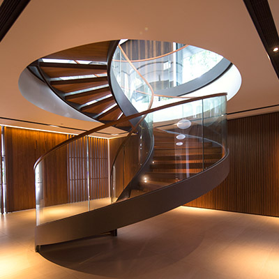 Secret Garden House: Amazing staircase in a contemporary home in Singapore by Wallflower Architecture + Design