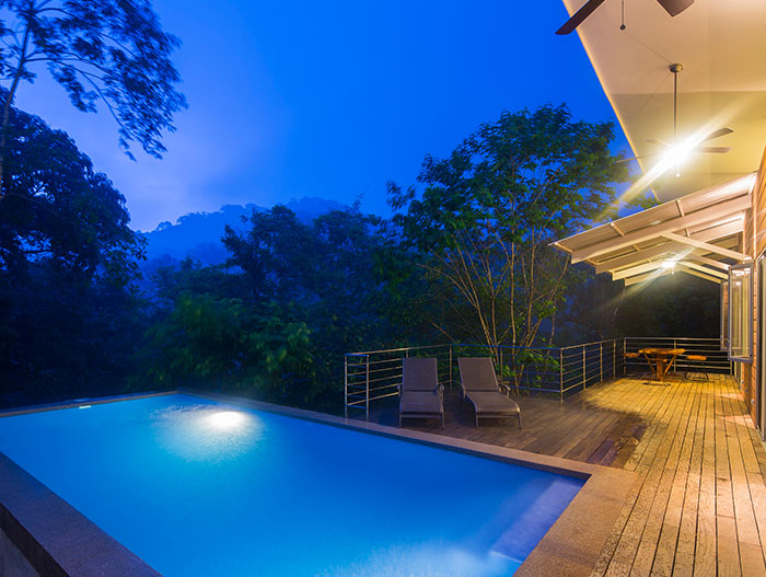 Amazing suspended house with spectacular pool in Costa Rica offers privacy to the owners and spectacular views