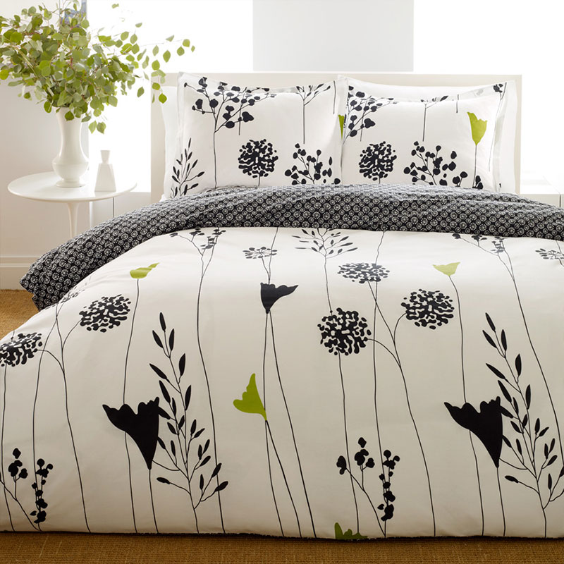 Asian print bedding set