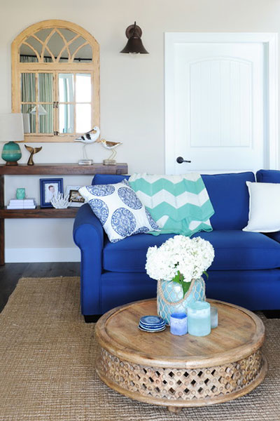 How to decorate your living room Beach Style Living Room
