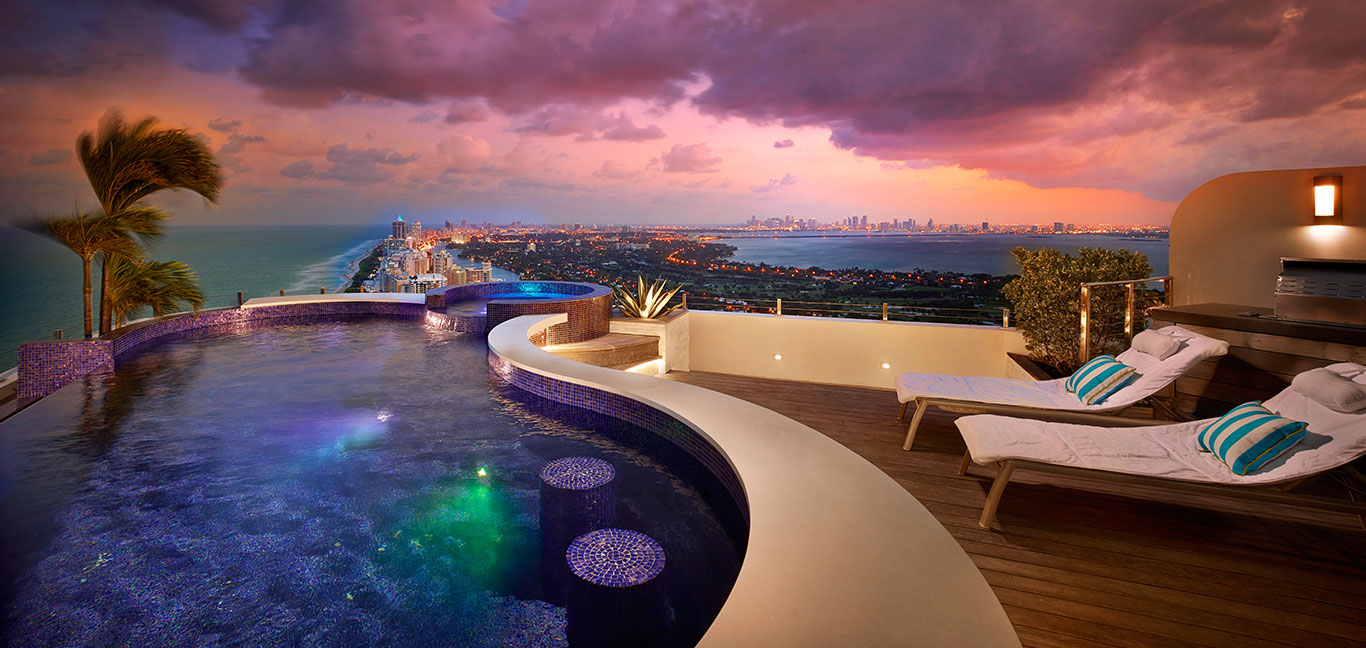 Akoya Penthouse by Pepe Calderin Design: Breathtaking penthouse with unbelievable Miami Beach views