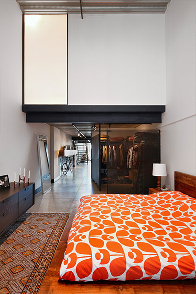 Master Bedroom area in Capitol Hill loft, Seattle by SHED Architecture