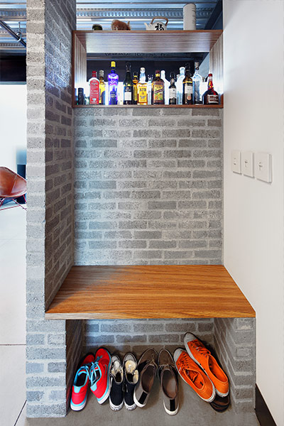 Entry to Capitol Hill loft in 1310 East Union Building Seattle, Washington by SHED Architecture