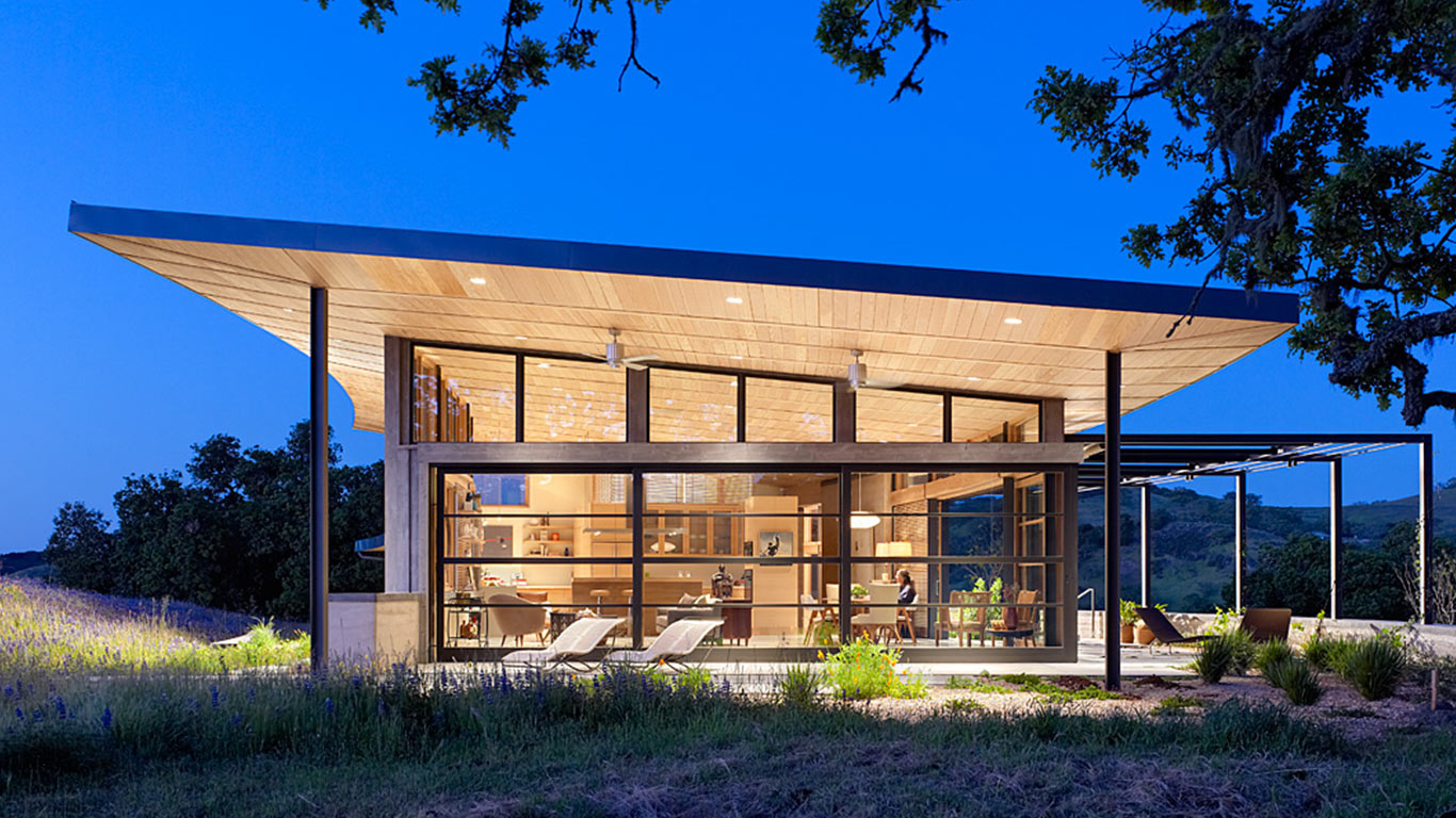 Caterpillar house sustainable leed certified Rancher homes
