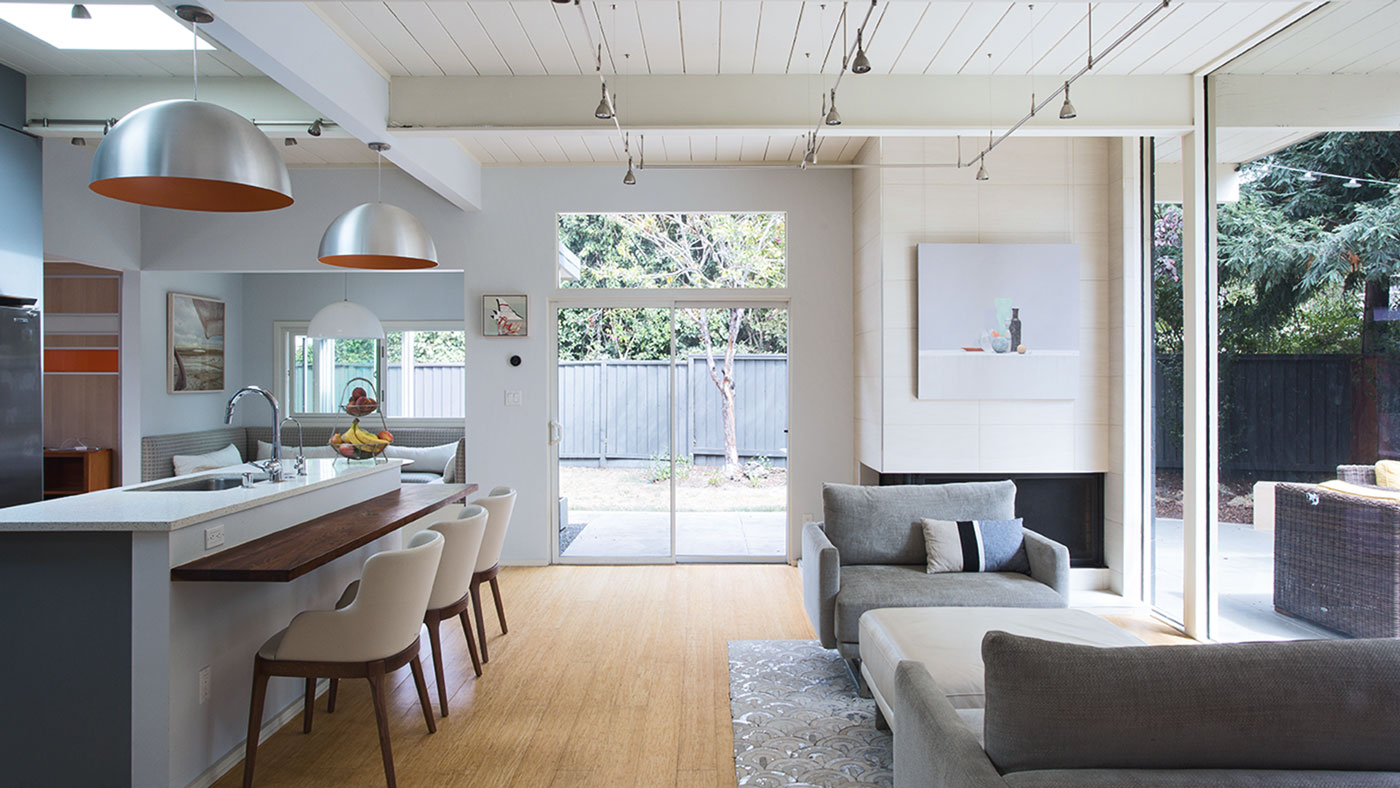 A classic Eichler home in the heart of Silicon Valley gets chic new look