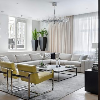 This contemporary apartment in Moscow, Russia by Alexandra Fedorova oozes luxury from every room