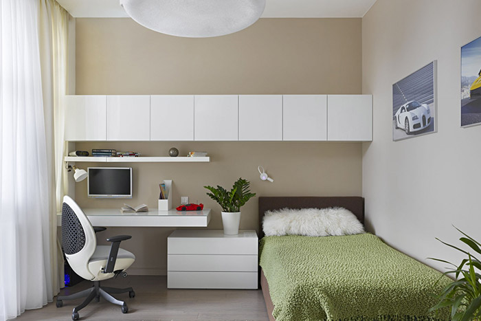 Contemporary kids room in Moscow apartment by Alexandra Fedorova