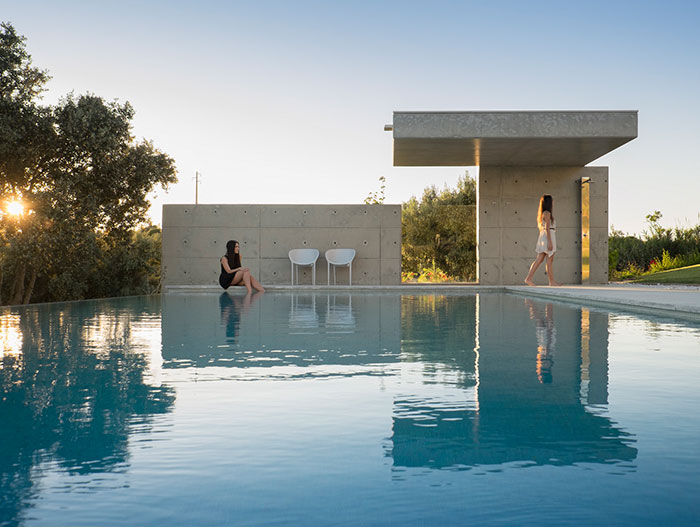 Contemporary pool in Algarve with stunning views of Lagos Portugal