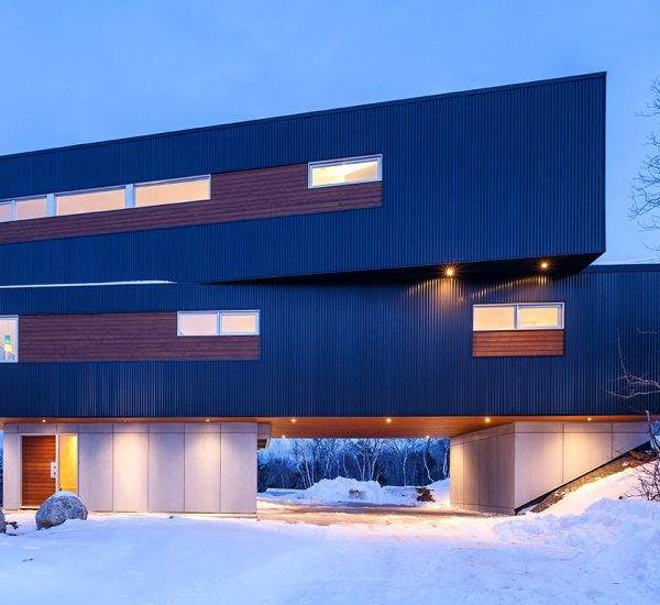 Contemporary three-storey house with stunning views over Purcells Cove in Halifax, Canada