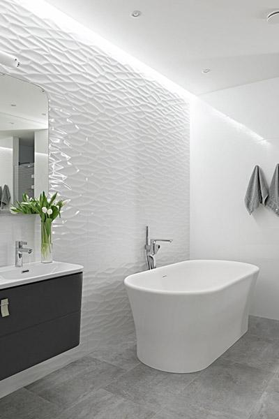 Contemporary white bathroom by Alexandra Fedorova