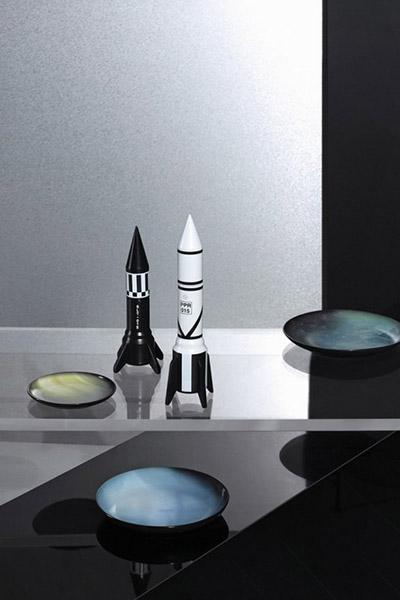 Cosmic Diner Collection - Rocket pepper grinder and salt grinder