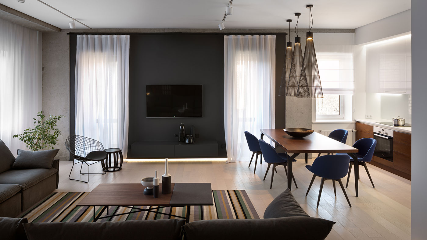 Elegant Minimalist Apartment In Dnepropetrovsk Ukraine By Nott