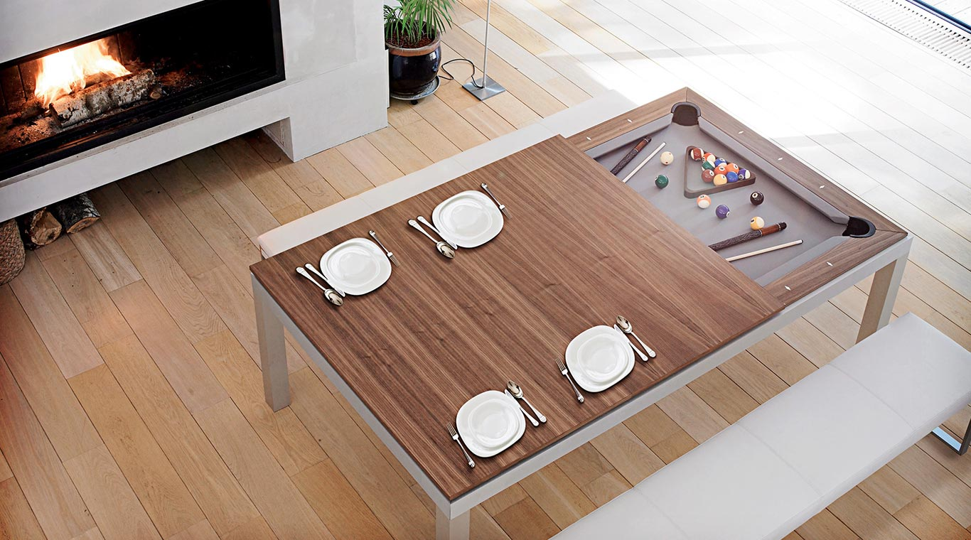 Fusion tables fusion pool tables transformable dining - Table transformable but ...