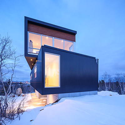 Fyren: Contemporary three-storey house with stunning views in Halifax, Canada