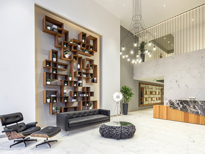 Luxurious penthouse design idea inside GAIA - a contemporary landmark in Quito, Ecuador