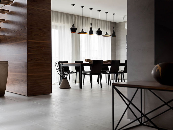 Gorgeous luxurious dining room in redesigned family home by NOTT Design