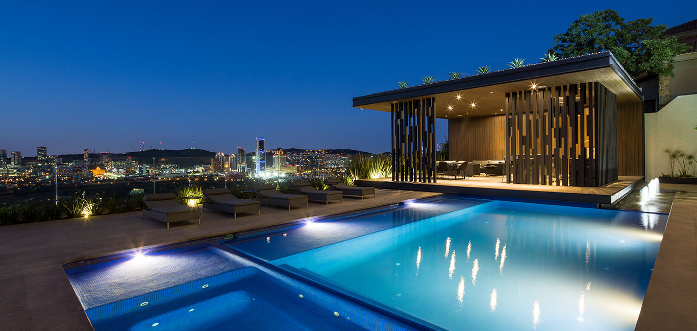 Gorgeous pool in breathtaking contemporary house in Monterrey, Mexico by GLR arquitectos
