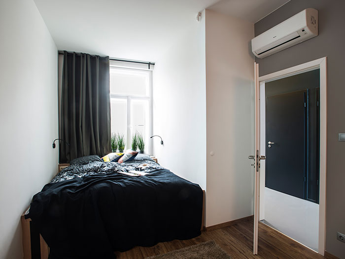 Guest room - bedroom in contemporary Hungarian apartment