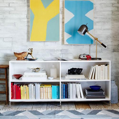 Lacquer Modern Storage Bookcase