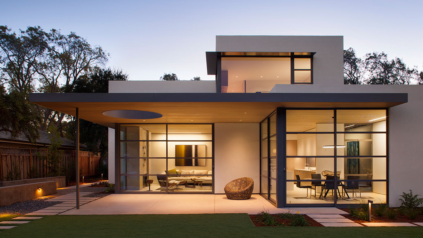 Lantern house by feldman architecture modern palo alto home lights up the entire neighborhood - Modern home pictures ...