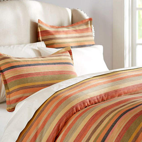 Logan Stripe Duvet Cover And Sham