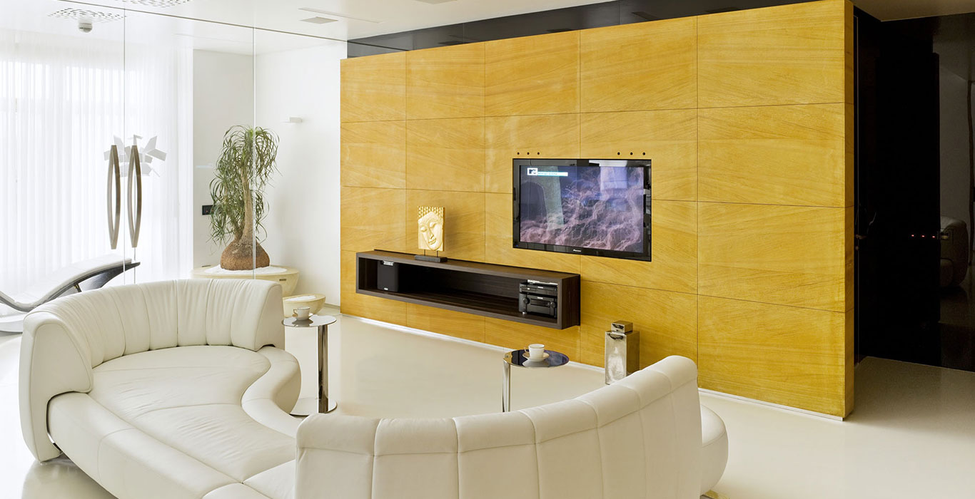 Luxurious apartment Triumph Palace Moscow with modern interior design