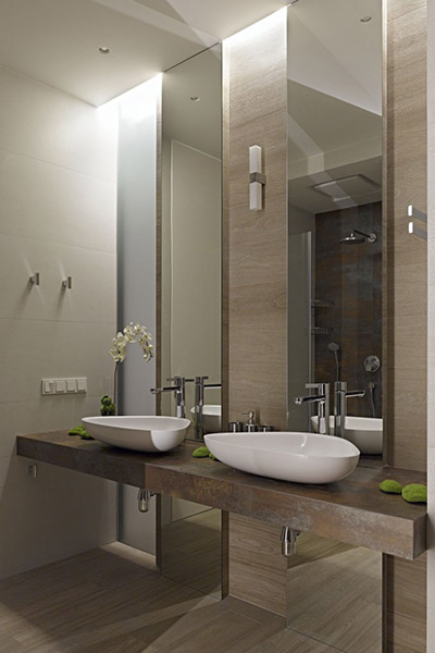Luxurious bathroom design in Moscow apartment by Alexandra Fedorova