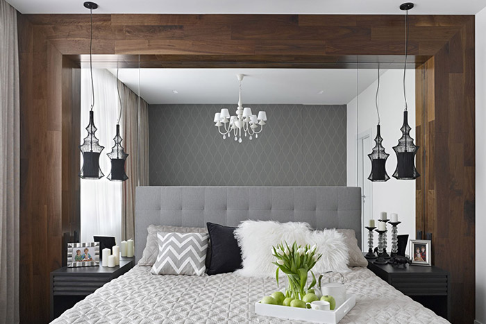 Luxurious bedroom in contemporary Moscow apartment by Alexandra Fedorova