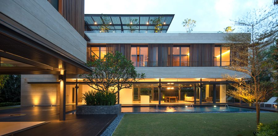 Secret Garden House: Luxurious, contemporary home in Singapore by Wallflower Architecture + Design