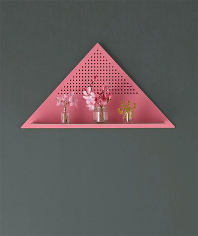 Mesh Series shelves -  collection stylish wall shelves triangular shape