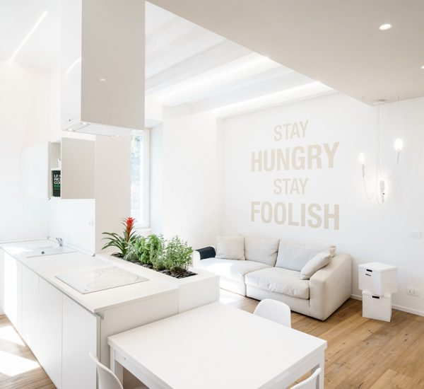 Minimalist all-white apartment in Rome, Italy by Brain Factory - Architecture & Design