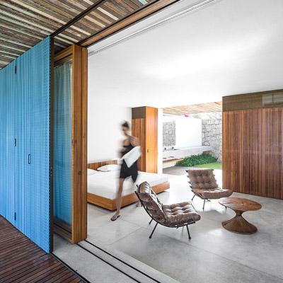 Txai House by Studio MK27 - minimalist bedroom design