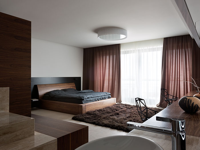 Luxurious and stylish modern bedroom design in stunning family home in Dnepropetrovsk, Ukraine