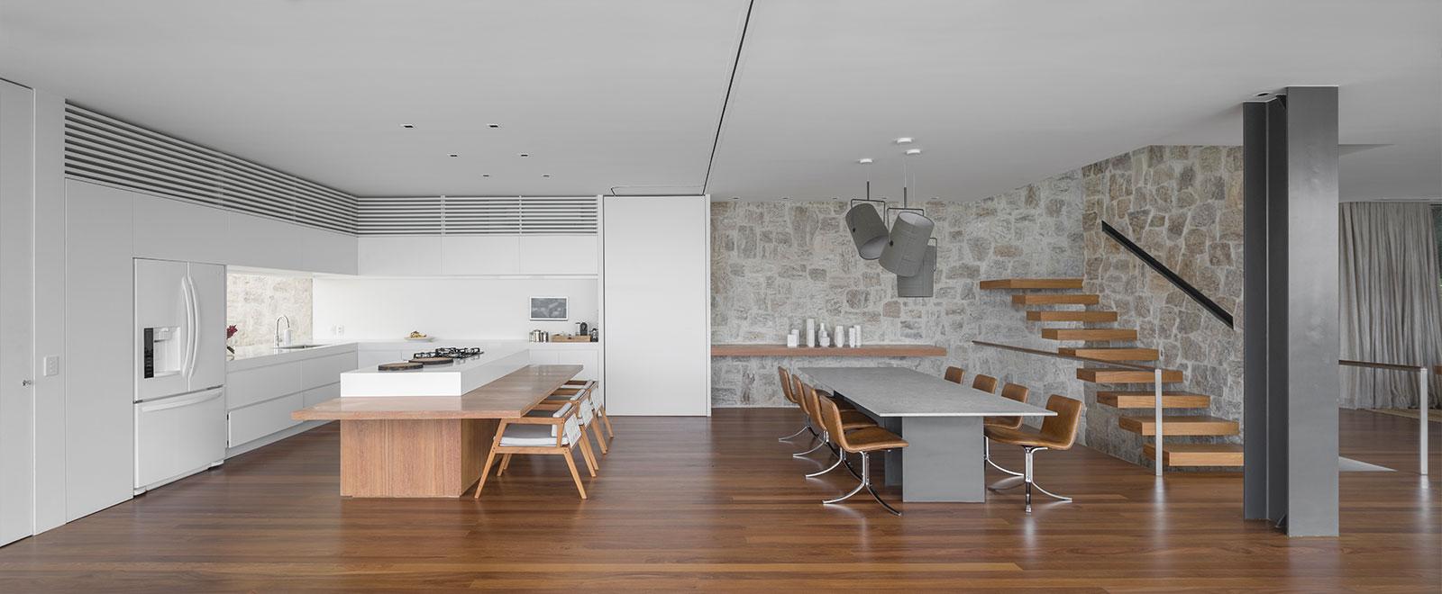 Modern interior design in luxurious Brazilian house